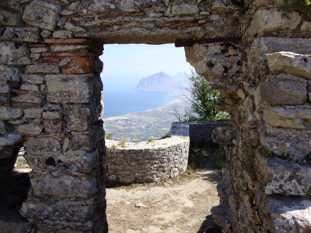 erice panorama dal castello di venere