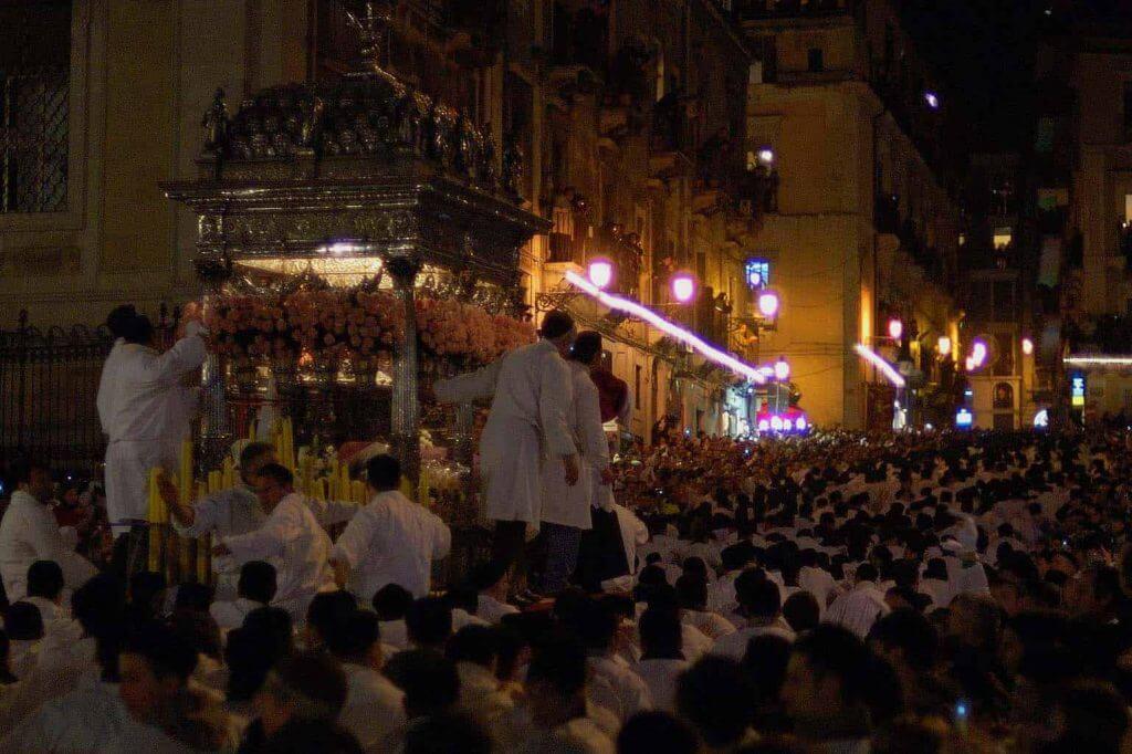inverno sicilia febbraio festa di sant'agata